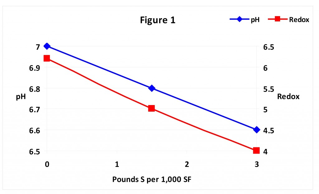 Reduction Oxidation compared with Sulfur in soils