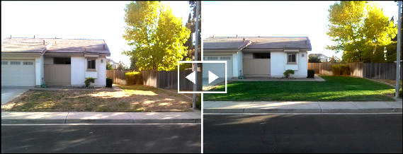 Curb appeal is restored with Lawn Picasso. The long California drought has left otherwise gorgeous properties with drab, brown grass. Lawn Picasso, using Endurant organic turf paint provides the solution.