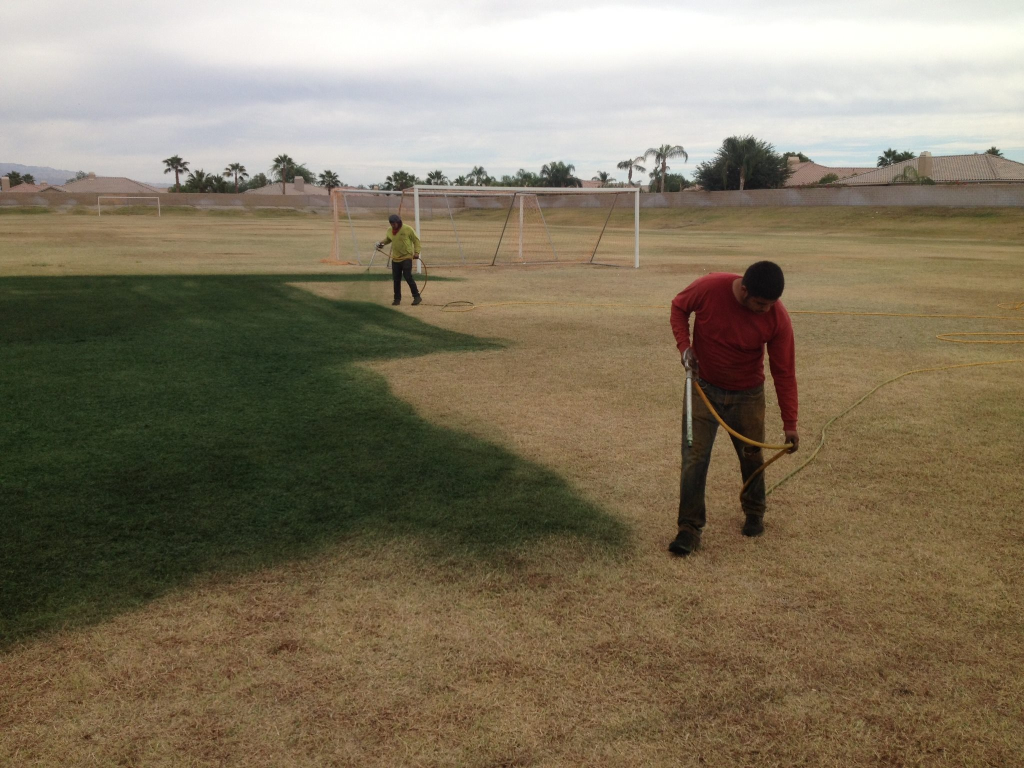Learn to paint at the Carolinas GCSA Conference & Show Endurant on a Palm Desert soccer field