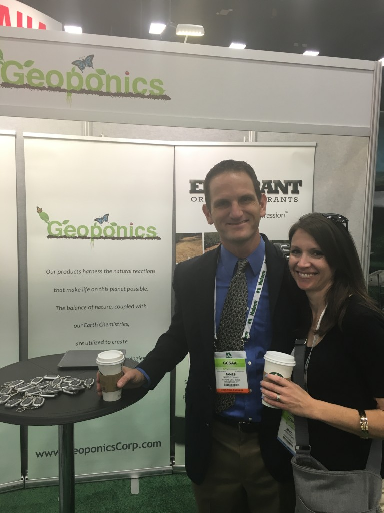 Scene from GIS 2016 with Geoponics and Endurant turf colorants