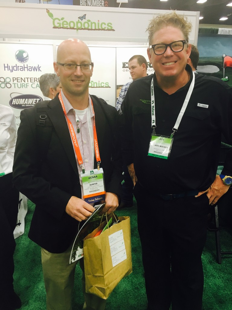 Talking turf at GIS 2016 held at the San Diego Convention Center in February.