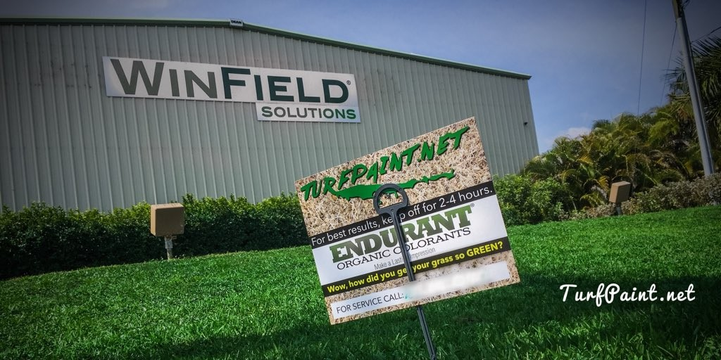 Turf Paint Field Day with WinField Solutions and Geoponics showcasing Endurant turf colorants for sod growers and landscapers
