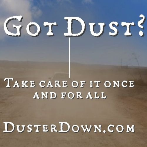 Dust suppression, erosion control and soil stabilization with DusterDown