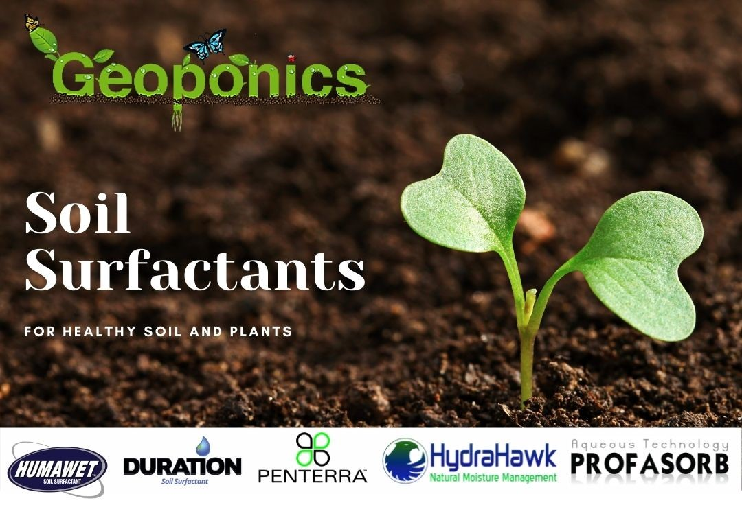 Choose the best soil surfactant for your situation with 5 Geoponics wetting agents